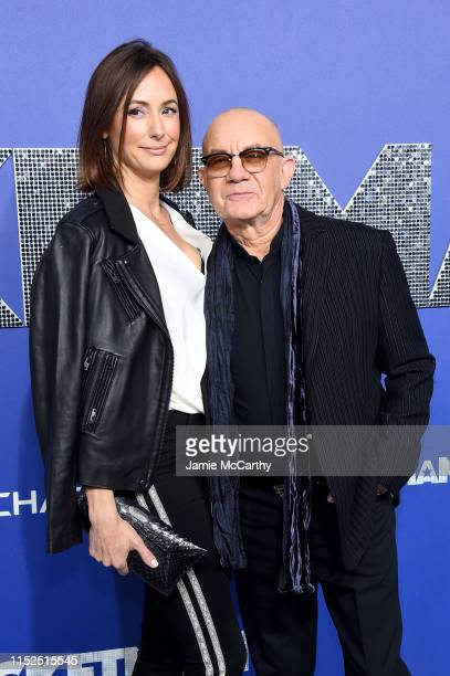 Heather Lynn Hodgins Kidd and Bernie Taupin attends the Rocketman New York Premiere at Alice Tully Hall on May 29 2019 in New York City