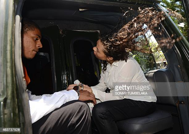 Heather Mack , accused of the premeditated murder of her mother, and her co-accused and boyfriend Tommy Schaefer of the US sit in a prison van in...