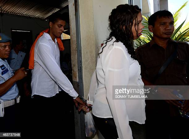 Heather Mack , accused of the premeditated murder of her mother, and her co-accused and boyfriend Tommy Schaefer of the US walk to a prison van in...