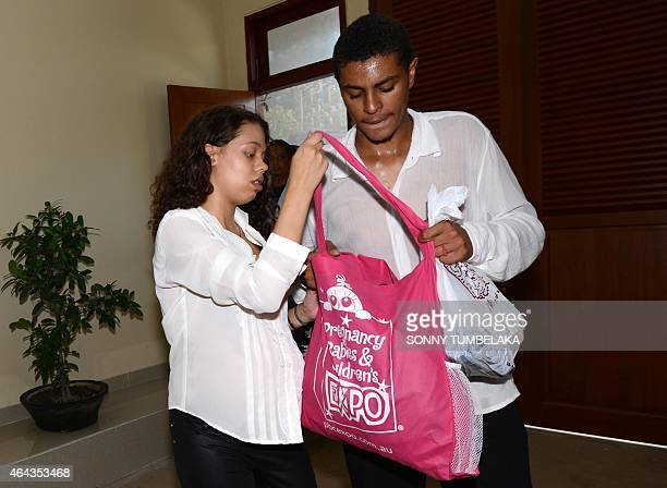 Heather Mack and Tommy Schaefer of the US arrive at Kerobokan prison after attending a court hearing in Denpasar on Indonesia's resort island of Bali...