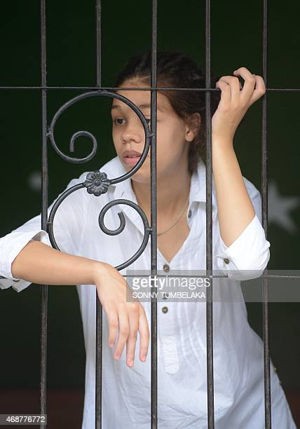 Heather Mack looks on inside a holding cell before her trial at Denpasar court on Bali island on April 7, 2015. Indonesian prosecutors have...