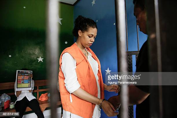 Heather Mack of the US prepares herself in a cell before her first hearing trial on January 14, 2015 in Denpasar, Bali, Indonesia. Heather Mack and...