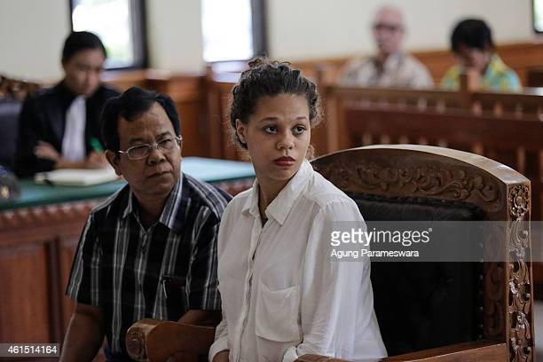 Heather Mack of the US sits in a courtroom during her first hearing trial on January 14, 2015 in Denpasar, Bali, Indonesia. Heather Mack and her...