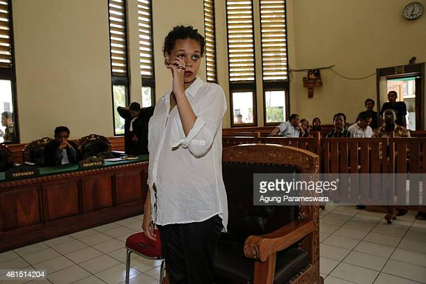 Heather Mack of the US stands as she arrives in a courtroom during her first hearing trial on January 14, 2015 in Denpasar, Bali, Indonesia. Heather...