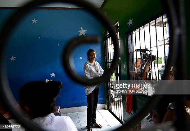 Heather Mack of the US waits for her trial at a court in Denpasar on Bali island on April 14, 2015. Indonesian prosecutors recommended Mack and her...