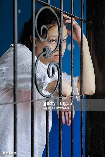 Heather Mack of the US waits in a cell before her sentence demand trial on March 31, 2015 in Denpasar, Bali, Indonesia. Indonesian prosecutors asked...