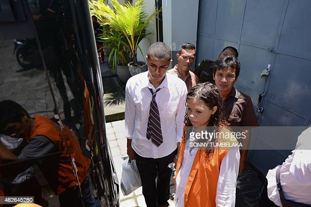 Heather Mack , who is accused of premeditated murder of her mother, walks with her co-accused and boyfriend Tommy Schaefer of the US to a vehicle at...