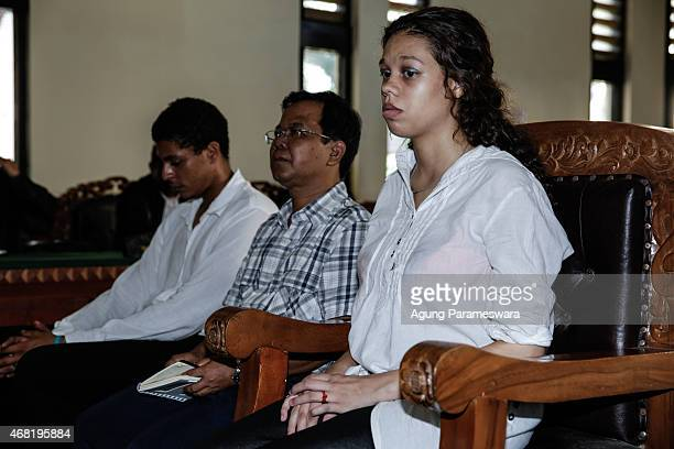 Heather Mack,19 and Tommy Schaefer both of the US sit in a courtroom during their sentence demand trial on March 31, 2015 in Denpasar, Bali,...