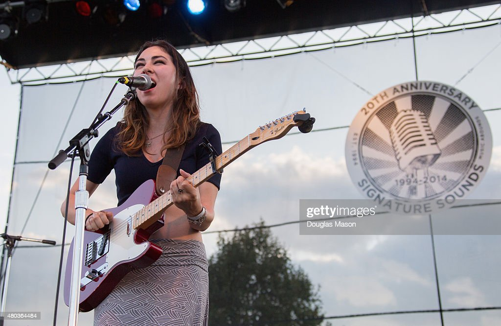 Heather Maloney performs during the Green River Festival 2015 at Greenfield Community College on July 10, 2015 in Greenfield, Massachusetts.