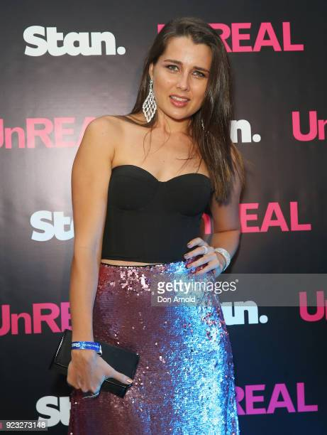 Heather Maltman attends the UnREAL Australian Premiere Party on February 23 2018 in Sydney Australia