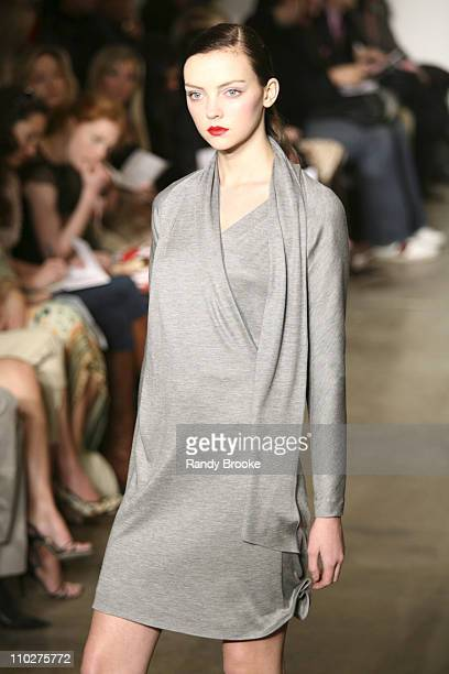 Heather Marks wearing Behnaz Sarafpour Fall 2006 during Olympus Fashion Week Fall 2006 - Behnaz Sarafpour - Runway at 547 West 21st in New York City,...