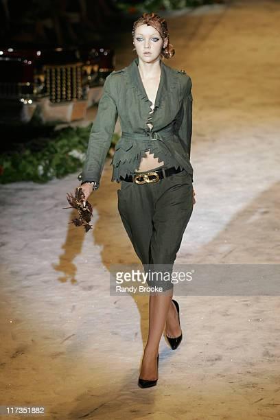 Heather Marks wearing Gwen Stefani for LAMB Spring 2006