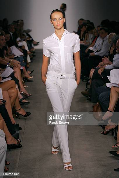 Heather Marks wearing Narciso Rodriguez Spring 2006