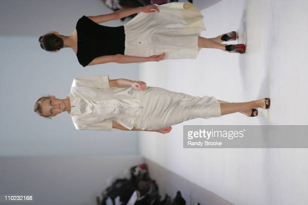 Heather Marks wearing Richard Chai Fall 2005 during Olympus Fashion Week Fall 2005 Richard Chai Runway at The Plaza Bryant Park in New York City New...