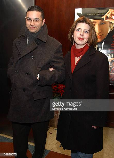Heather Matarazzo and guest during Nicholas Nickleby Premiere New York Inside Arrivals at Beekman Theater in New York City New York United States