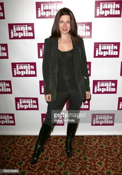 Heather Matarazzo attends A Night With Janis Joplin Broadway opening night after party at Buca di Beppo on October 10 2013 in New York City