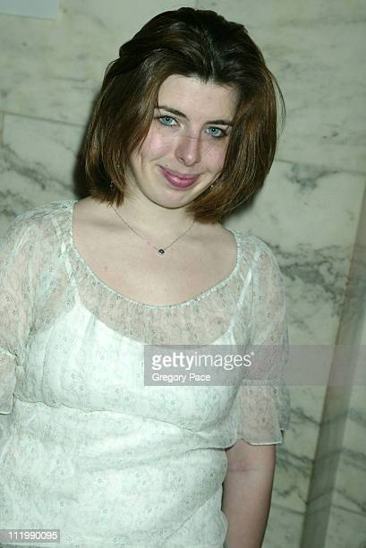 Heather Matarazzo during Jill Stuart 2003 Fall Collection attendees at Astor Hall NY Public Library in New York NY United States