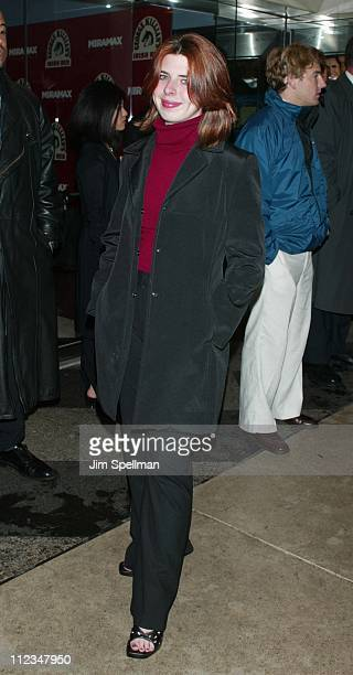 Heather Matarazzo during New York Premiere of The Importance of Being Earnest at The Paris Theatre in New York City New York United States
