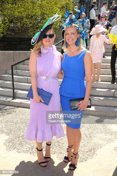 Heather McAuliffe and Katherine Birch attend 36th Annual Frederick Law Olmsted Awards Luncheon Central Park Conservancy at The Conservatory Garden in...