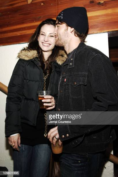Heather McComb and James Van Der Beek during 2006 Park City Motorola/UbiSoft Late Night Lounge at 515 Main Street in Park City Utah United States