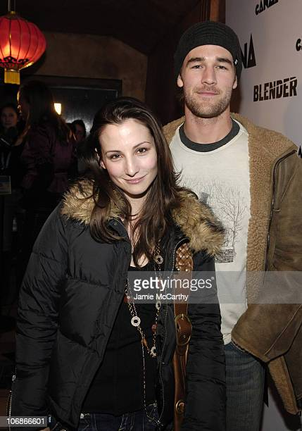 Heather McComb and James Van Der Beek during 2006 Park City The Blender Sessions at Tao Launch Party for CANANA Productions at Tao in Park City Utah...
