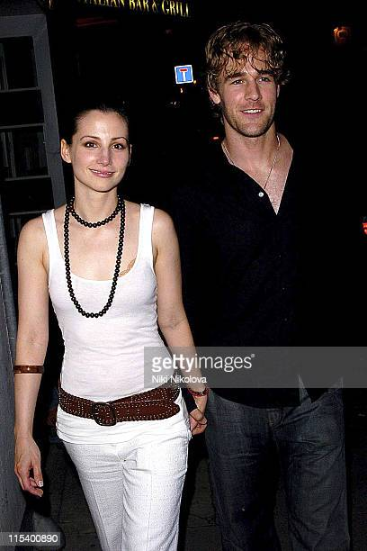 Heather McComb and James Van Der Beek during Prince of Brunei Birthday Party June 24 2005 at Frankie's Bar Grill in London Great Britain