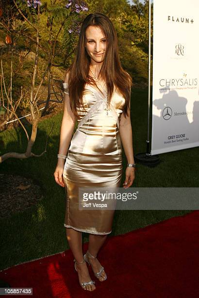 Heather McComb during Sixth Annual Chrysalis Butterfly Ball Red Carpet at Home of Susan Harris Hayward Kaiser in Mandeville Canyon California United...
