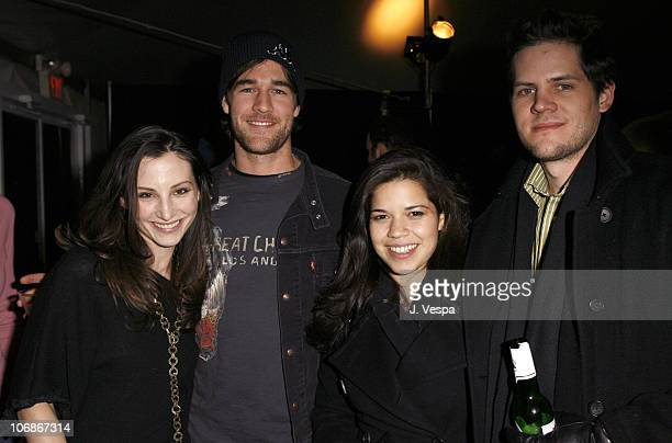 Heather McComb James Van Der Beek America Ferrera and Ryan Williams