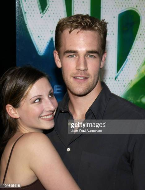 Heather McComb James Van Der Beek during The WB Network's 2002 Summer Party at Renaissance Hollywood Hotel in Hollywood California United States