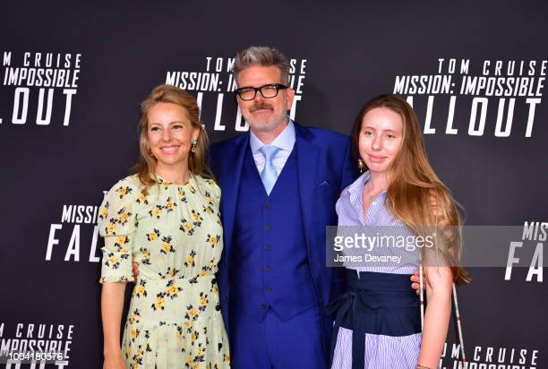 Heather McQuarrie Christopher McQuarrie and Wilhelmina McQuarrie attend the 'Mission Impossible Fallout' US Premiere at Lockheed Martin IMAX Theater...