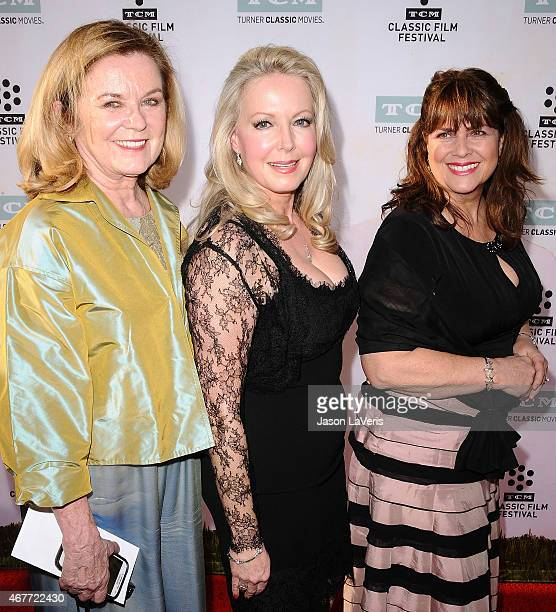 Heather Menzies Debbie Turner and Kym Karath attend the 2015 TCM Classic Film Festival opening night gala and the 50th anniversary of The Sound Of...