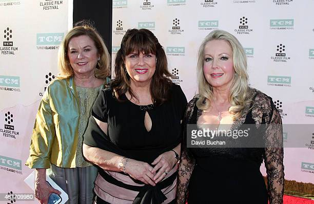Heather MenziesUrich Debbie Turner and Kym Karath attends the 2015 TCM Classic Film Festival Opening Night Gala 50th anniversary screening of The...