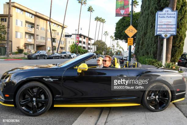 Heather Milligan and Arnold Schwarzenegger are seen on November 18 2017 in Los Angeles California