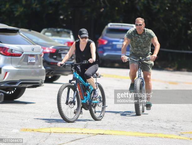 Heather Milligan and Ralf Moeller are seen on April 26 2020 in Los Angeles California