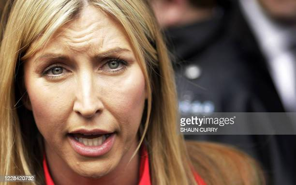 Heather Mills addresses the media outside London's High Court, on March 17, 2008. Pop legend Paul McCartney and his estranged wife Heather Mills have...