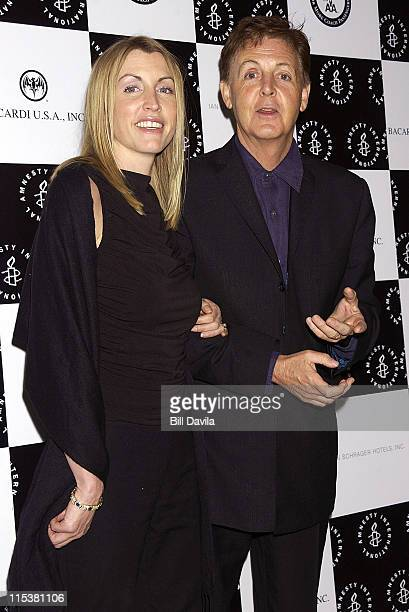 Heather Mills and Paul McCartney during 5th Annual Amnesty International USA's Media Spotlight Awards at Chelsea Piers in New York City New York...
