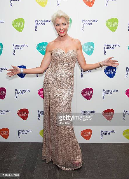 Heather Mills attends 'An Evening With Suggs And Friends' in aid of pancreatic cancer at Emirates Stadium on March 17 2016 in London England