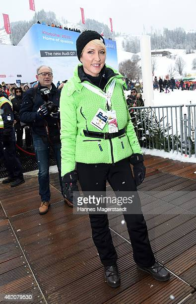 Heather Mills attends the Hahnenkamm Race on January 24 2015 in Kitzbuehel Austria