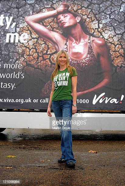 Heather Mills supporting the Viva! Hot! Campaign on November 19, 2007 in London.
