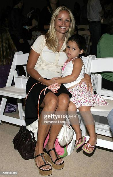 Heather Mnuchin and her daughter Emma attend the Tuleh Spring 2006 fashion show during Olympus Fashion Week at Bryant Park September 11, 2005 in New...