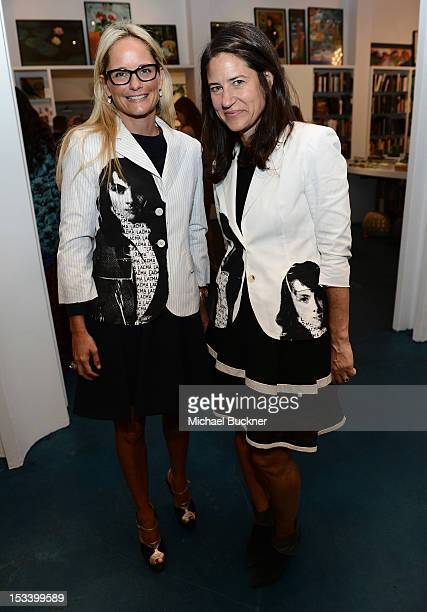Heather Mnuchin and Katherine Ross attends the Director's Circle Celebration of WEAR LACMA Inaugural Designs by Johnson Hartig For Libertine And...
