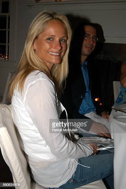 Heather Mnuchin attends Dinner Party Following IN HER ARMS Premiere at Nello on July 17 2005 in Southampton NY
