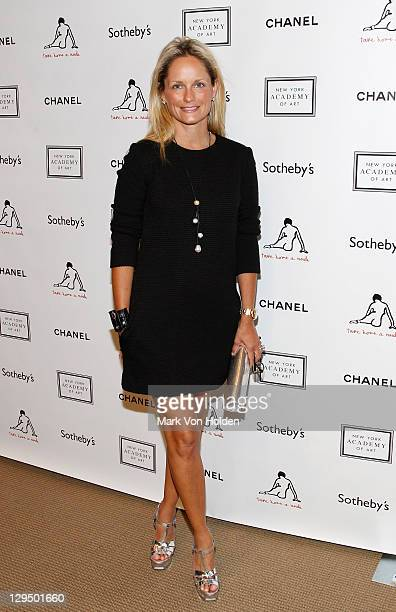 Heather Mnuchin attends The New York Academy of Art's 20th Annual Take Home a Nude benefit at Sotheby's on October 17 2011 in New York City