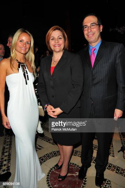 Heather Mnuchin Christine Quinn and guest attend City Harvest's An Evening of Practical Magic at Cipriani 42nd Street on April 22 2009 in New York
