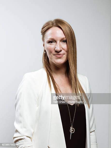 Heather Moyse of Canada poses for a picture during the induction at the launch of the World Rugby via Getty Images Hall of Fame at the Rugby Art...
