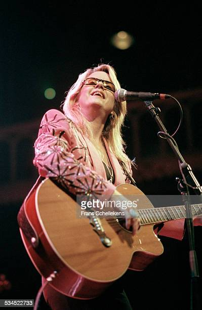 Heather Myles, guitar and vocals, performs at the Paradiso on February 4th 1999 in Amsterdam, Netherlands.