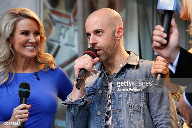 Heather Nauert and Chris Daughtry attend FOX Friends All American Concert Series outside of FOX Studios on June 6 2014 in New York City