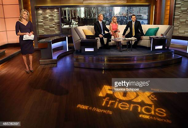 Heather Nauert attends Valerie Harper Visits FOX Friends at FOX Studios on April 17 2014 in New York City