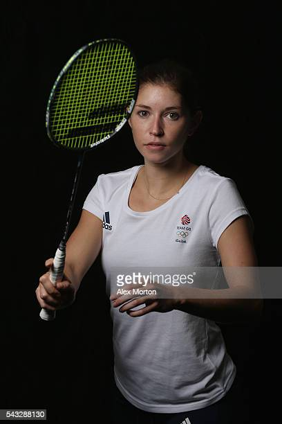 Heather Olver of Team GB during the Announcement of Badminton Athletes Named in Team GB for the Rio 2016 Olympic Games at the National Badminton...