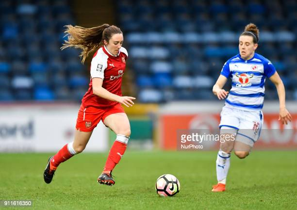 Heather O'Reilly of Arsenal during Women's Super League 1 match between Reading FC Women against Arsenal at Wycombe Wanderers FC on 28 Jan 2018